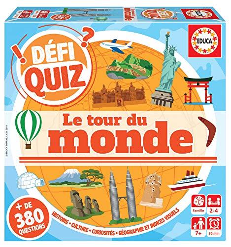 Educa- Defi Quiz-Le Tour du Monde Jeu de Société, 18156, varié