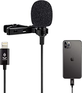 Professional Lavalier Lapel Microphone Omnidirectional Condenser Mic for iPhone 7/7 plus/8/8 plus/11/11 Pro/11 Pro Max, iP...
