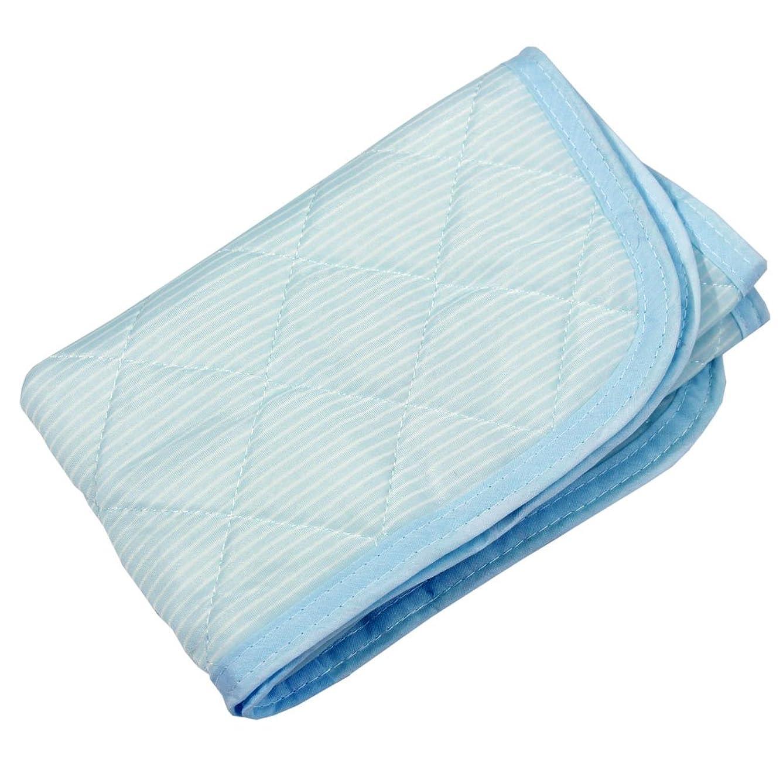 皮肉な一般太鼓腹接触冷感 枕パッド ボーダー 445653-0003