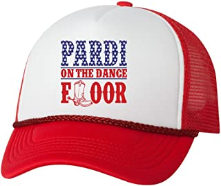 Pardi On The Dance Floor USA Trucker Hat Cap Country Music Hats New - White/Red