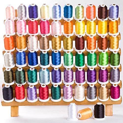 Multi Farben 25pcs//Pack f/ür Brother//Babylock//Janome//Singer Stickereimaschine Simthread Typ A Stickerei vorgewickelten Spulen Gewinde