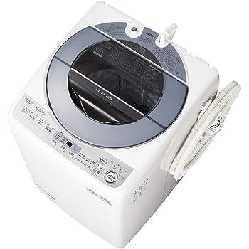 シャープ 洗濯機 穴なし槽 インバーター搭載 シルバー系 8kg ES-GV8D-S