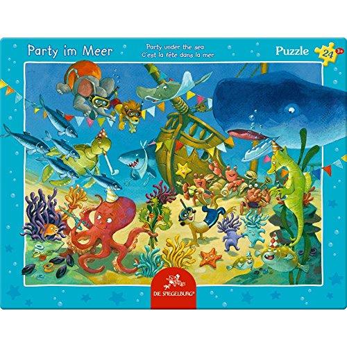 Spiegelburg 13552 Rahmenpuzzle Party im Meer (24 Teile)