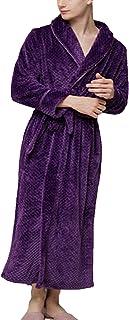 Pajama Ladies Men Winter Fashion Soft Coral Fleece Bathrobe Comfortable Sizes Long Sleeve V-Neck Thicken Warm Loose Comfor...