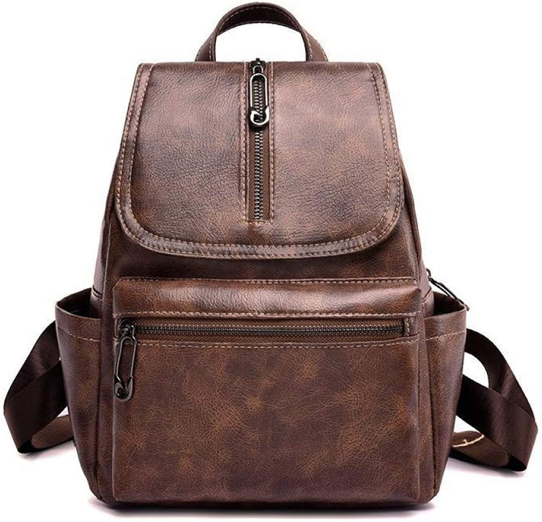 VITANB 11% Fashion Retro Pu Leather Backpack Women Rucksack School Bags for Teenage Teenagers Girls Luxury Backpacks Student Bag