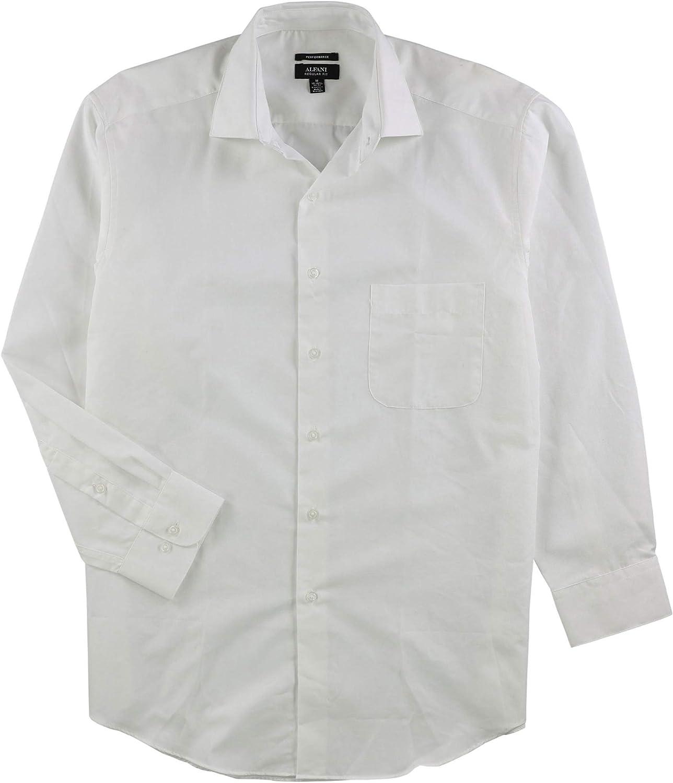 Alfani Mens Stretch Button Up Dress Shirt