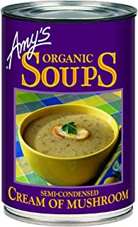 Amy's Kitchen Organic Soups, Semi-Condensed Cream of Mushroom, 14.1 Ounce (Pack of 1)