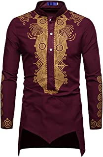 Men Shirt Men Shirt Long Spring and Autumn Fashion Casual Long Sleeved Modern Ethnic Style Banquet Holiday Boutique New Me...