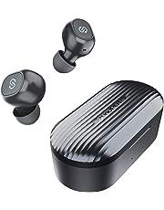 ワイヤレスイヤホン SoundPEATS(サウンドピーツ) Truefree+ Bluetooth イヤホン AAC対応 35時間再生 Bluetooth 5.0 完全ワイヤレス イヤホン 自動ペアリング マイク内蔵 両耳通話 ブルートゥース ヘッドホン スポーツ イヤホン ワイヤードイヤホン [メーカー1年保証] ブラック