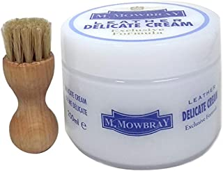 [エムモゥブレィ] M.MOWBRAY 乾ききった皮革製品に潤いを! スムース革ツヤ玉セット(N128) (デリケートクリームM 200ml /ペネトレィトブラシ)