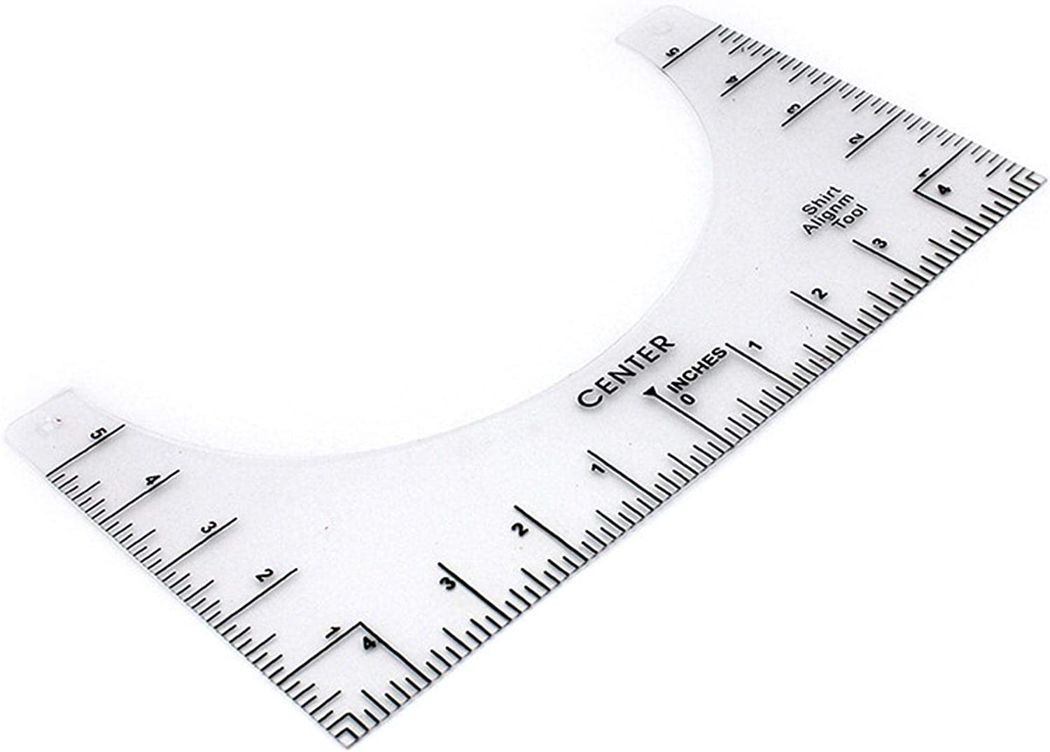 T Shirt Ruler Guide,T-Shirt Alignment Tool for Sewing Quilting,Round Neck Calibration Centering Tool Ruler,PVC Sewing Ruler Heat Transfer Fixed Ruler