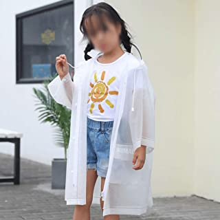 WZHZJ Cute Kids Raincoat Wateproof Children's Rain Poncho Rain Coat Jacket with Backpack Position (Size : Medium)