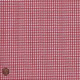 Textiles français 100% Baumwolle Stoff   Rot   Hahnentritt