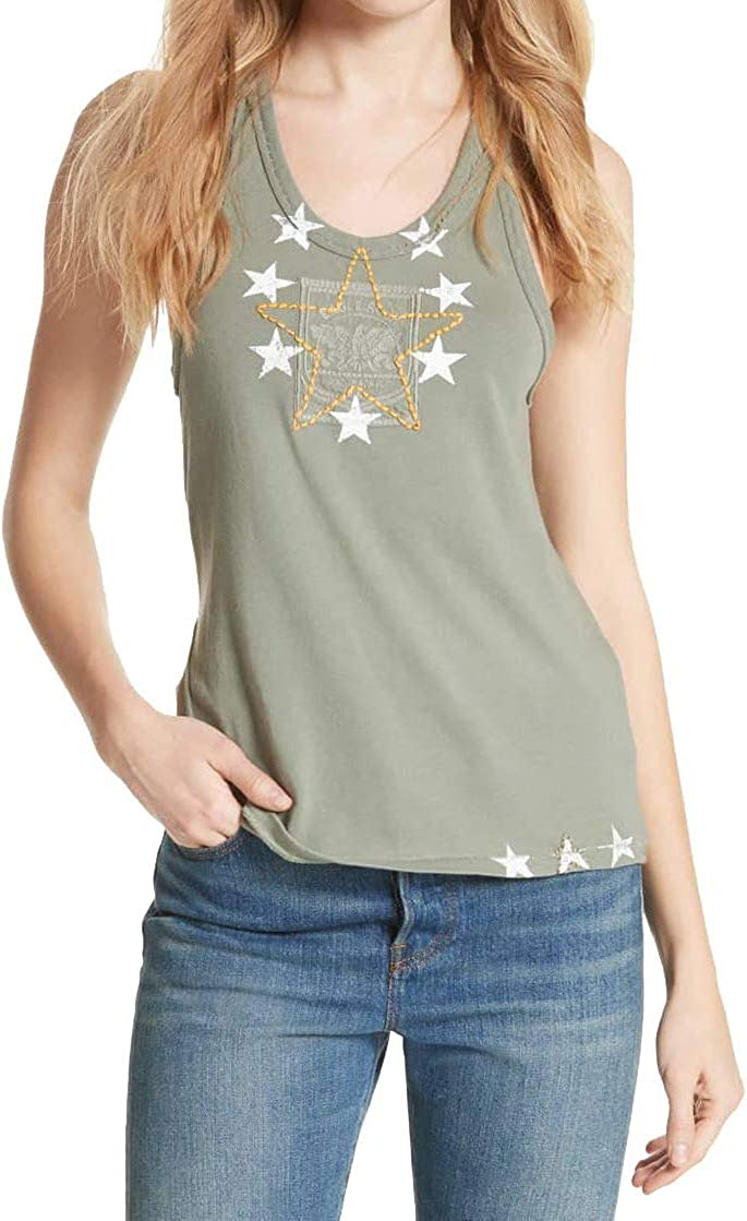 Free People Womens Embroidered Crop Tank Top