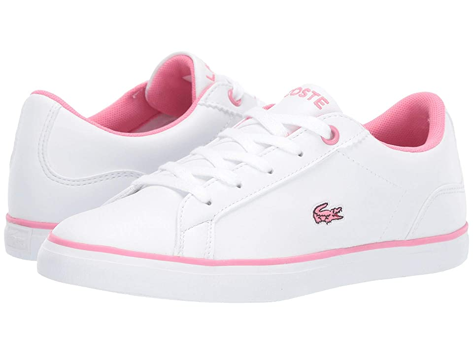 Lacoste Kids Lerond BL 2 CUC (Little Kid) (White/Pink) Girl