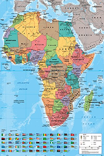 GB Eye, Africa Map, Maxi Poster, 61 x 91,5
