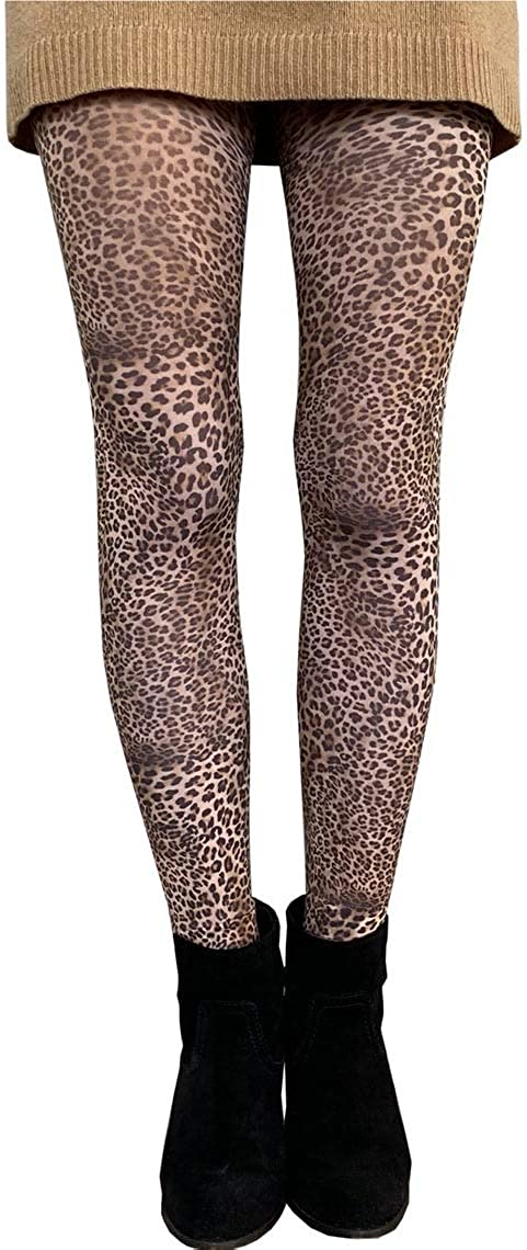 Petite Leopard patterned tights natural for women