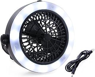 Ceme ファン付き キャンプライト led テントランタン 扇風機付き テント照明 2WAY 電池式 キャンプランタン フック付き USB 電池両式 テント用扇風機 釣り アウトドア 便利グッズ