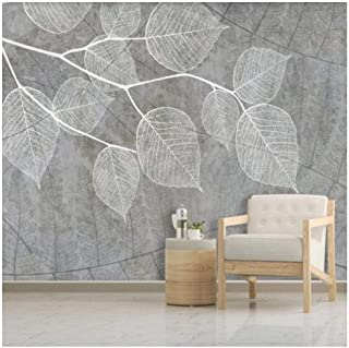 Custom Wallpaper Large Wall Mural Wall Art 3D Simple Leaf Vein pattern Cement Wall Print Picture Landscape-Home Decor -120...
