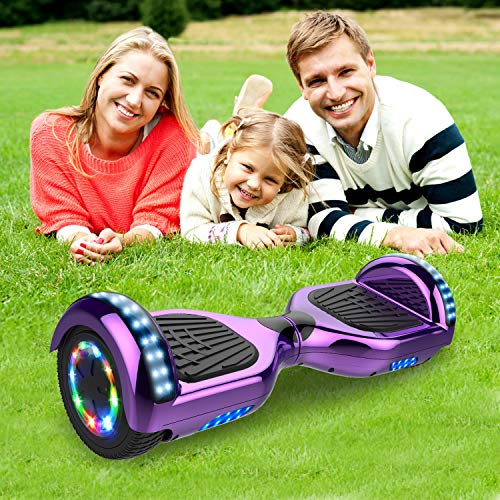 GEARSTONE 6.5 inch HoverBoard Self Balancing Scooter Smart Segway Powerful Motor E Scooter 350W 2,with Hoverkart,Gift for Kids
