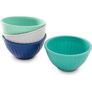 Nordic Ware 69500 Prep & Serve Mini Bowl Set, 4-pc, Set of 4, Coastal Colors