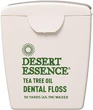 Desert Essence Tea Tree Oil Floss, 50 Yards, Pack of 6