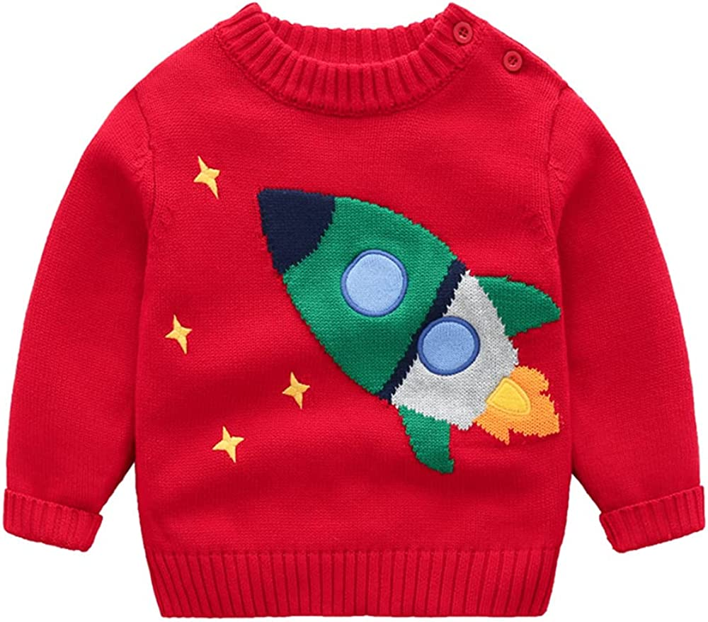 AOWKULAE Boys Girls Cartoon Knit Pullover Sweater