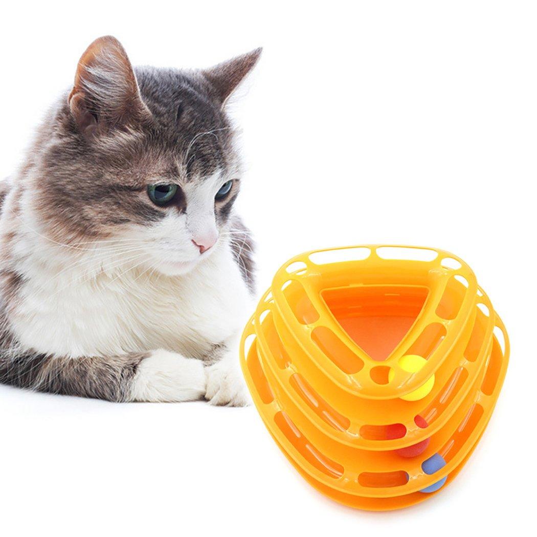 Legendog Juguete para Mascotas Torre De La Pista 3 Capas Interactiva Placa De Entretenimiento Gato Juguete Bola: Amazon.es: Productos para mascotas