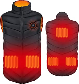 Electric Heating Vest Heated Jacket Clothes for Fall/Winter Seasons(Without Battery,Medium Body Type Wearing!)