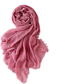 Women Soft Cotton Hemp Scarf Women's Long Head Scarves - Hijab Wrap Shawls Scarf