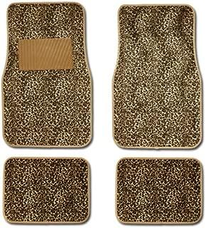cheetah print car floor mats