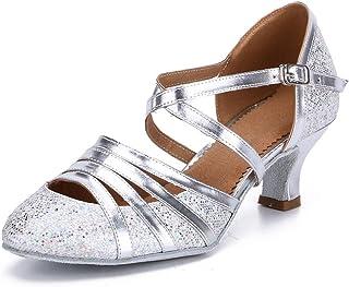 HROYL Chaussures de danse pour salsa latine à bout fermé années 1920 Modèle C5-W11