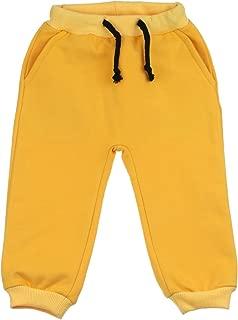 (6-9 Months, Yellow) - buc kids fashion BUC Baby Pants Sweatpants Trousers