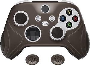 eXtremeRate Capa protetora PlayVital Samurai Edition Clear Black antiderrapante com controle de pele, capa protetora ergon...