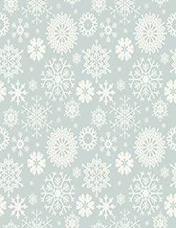 Eaiizer Poster Wall Art Print Christmas Cute with Snowflakes Light Blue Winter for Your Designs Frost Frozen 16x24 Inches Artwork for Home Bedroom Decor
