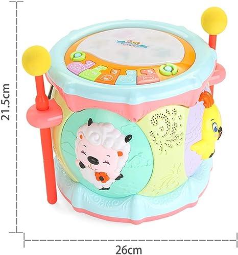 LIPENG-TOY 0-3-6 Jahre alt Kinder Lernen zu singen kann begleiten handtrommeln Baby Infant aufkl ng Baby Toys Jungen und mädchen (Farbe   Bunte)