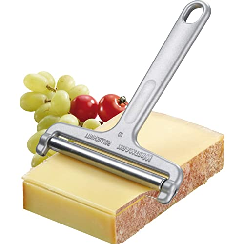 Westmark Germany Heavy Duty Stainless Steel Wire Cheese Slicer Angle Adjustable (Grey),7  x 3.9  x 0.2  -