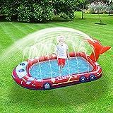 RUBAPOSM Splash Pad, Juguetes de Agua Verano para Piscina Jardín Playa, Piscina Infantil Hinchable para Familia de Verano Divirtiéndo, Tapete de Juegos de Agua