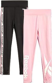 Reebok Girls' Athletic Leggings - Full Length Spandex Performance Sports Tights