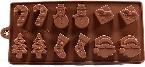 6 Shapes Christmas Chocolate Cake Jelly Ice Silicone Fondant Mold Mould Baking