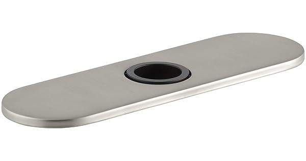 Kohler K-13479-A-VS Optional 8 Escutcheon Round Plate for Insight Faucet Vibrant Stainless