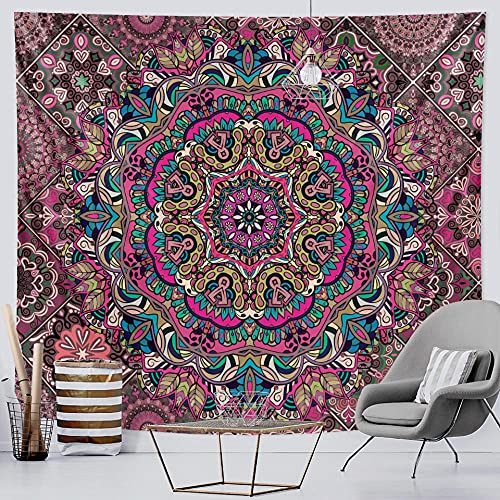 Tapiz De Mandala Indio Brujería Hogar Tapiz Art Deco Hippie Decoración Bohemia Sofá Manta Yoga Qyy-170