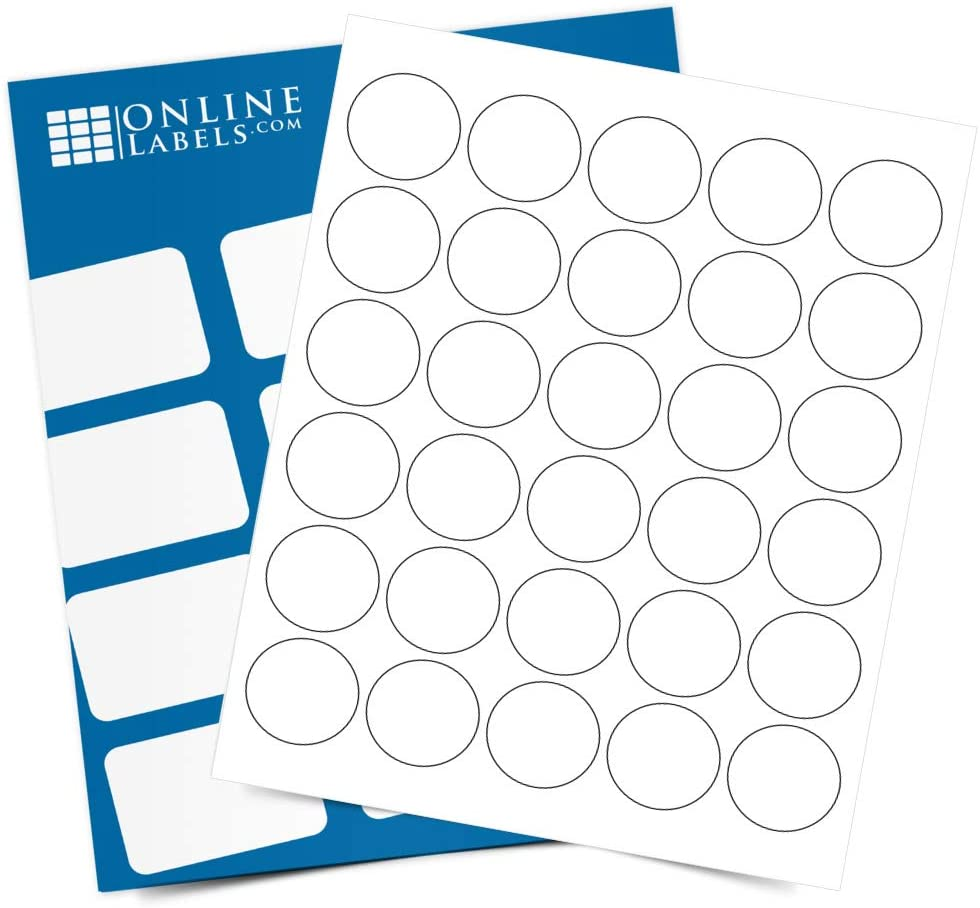 1.5 Inch Round Labels - Pack of 250 Sheet Stickers Gifts 7 Circle 500 online shop