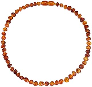 Baltic Amber Necklace (Cognac) - 100% Certified Authentic Baltic Amber