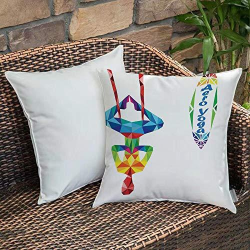 Bedding Soft Decorative Square Pillowcases Yoga,Aerial Aero Anti Gravity...