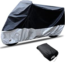 "CARSUN All Season Two-colour Design Outdoor/Indoor Waterproof Motorcycle/Bike Cover, with Lock (SIZE 1-86.6""x37.4""x43.3"")"