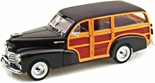 WELLY 22083 1948 CHEVROLET WOODY WAGON FLEETMASTER 1/24 DIECAST MODEL CAR BROWN ,#G14E6GE4R-GE 4-TEW6W206820