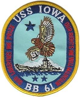 Squadron Nostalgia LLC USS Iowa BB-61 Patch – Plastic Backing