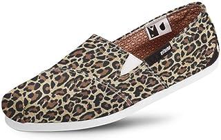 Alpargata Usthemp Slim Vegano Casual Estampa Leopard