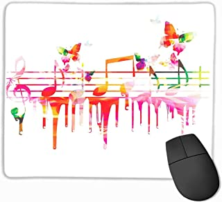 Music Decor Waterproof Mice Pad Colorful Artwork Music Notes Clef Composer Orchestra Decorative Classic Custom Mouse pad 11.8